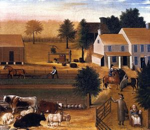 Edward Hicks - The Residence of David Twinning in 1785