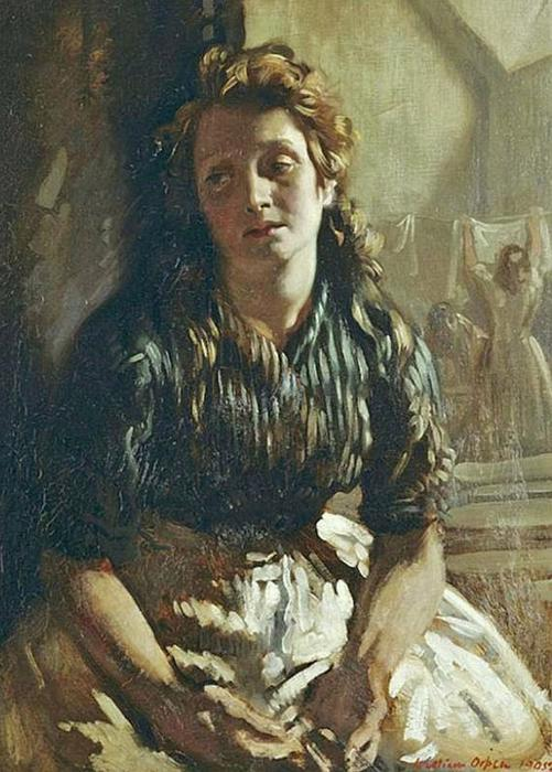 Resting, Oil On Canvas by William Newenham Montague Orpen (1878-1931, Ireland)