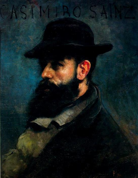 Retrato de Casimiro Sainz, Oil On Canvas by Cecilio Pla Y Gallardo (1860-1934, Spain)