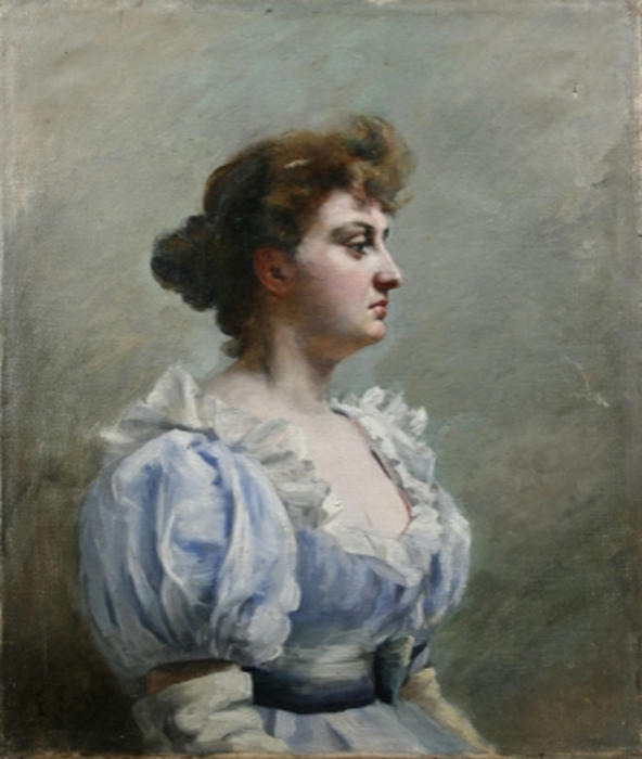Retrato de Mujer by Emilio Sala Y Frances (1850-1910, Spain) | Art Reproduction | WahooArt.com