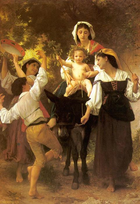 Return from the Harvest, Oil On Canvas by William Adolphe Bouguereau (1825-1905, France)