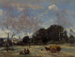 Jean Baptiste Camille Corot - Return of the Hayers to Marcoussis