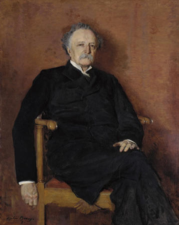 The Reverend Matthew Blackburne Grier, Oil On Canvas by Cecilia Beaux (1855-1942, United States)