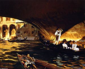 John Singer Sargent - The Rialto (also known as Grand Canal)