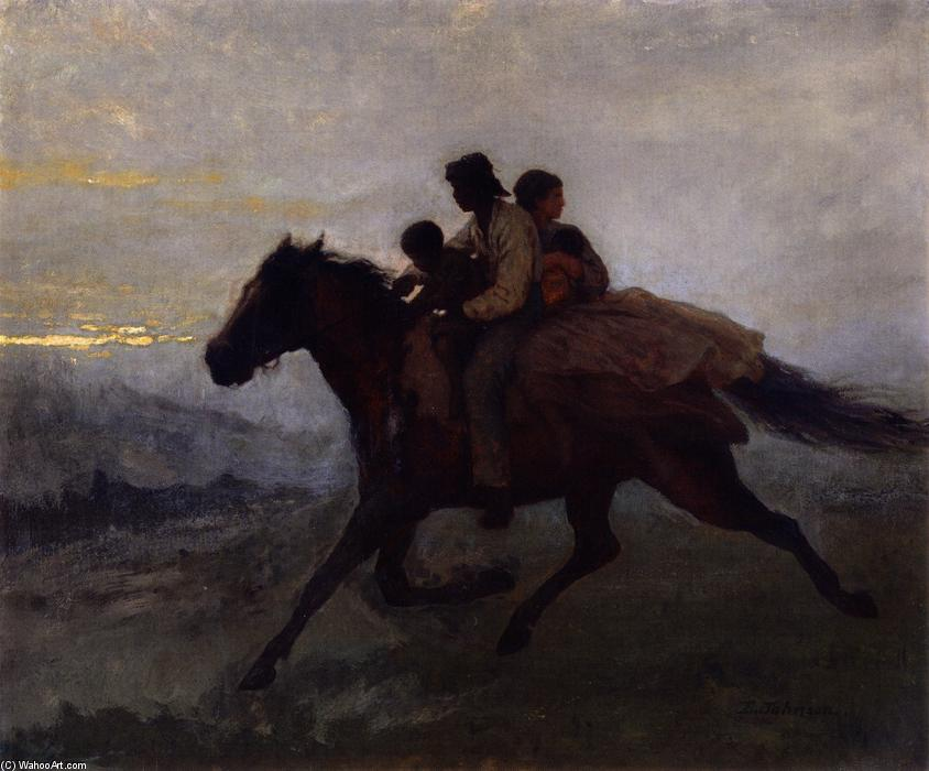 A Ride for Liberty - The Fugitive Slaves, Oil On Panel by Jonathan Eastman Johnson (1824-1906, United Kingdom)