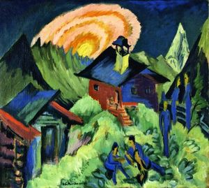Ernst Ludwig Kirchner - Rising Moon on the Stafelalp