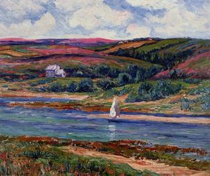 Henri Moret - The River at Belon