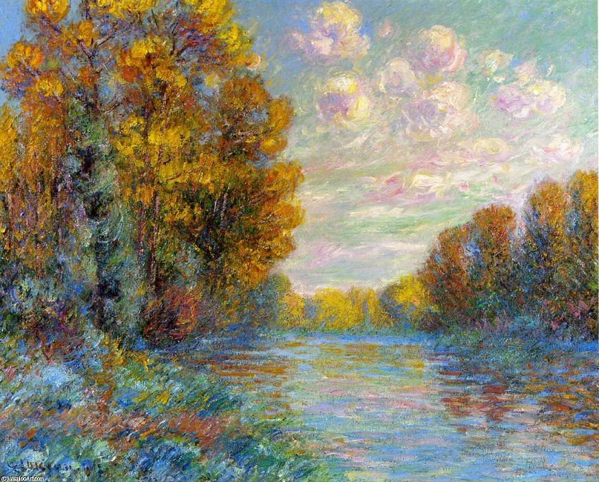 The River in Autumn, 1912 by Gustave Loiseau (1865-1935, France) | Oil Painting | WahooArt.com