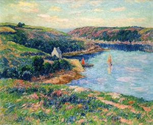 Henri Moret - River in Belon