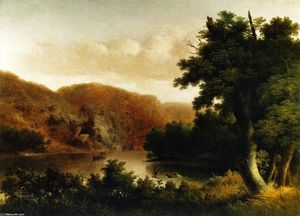 Thomas Doughty - River Landscape, The Hunt