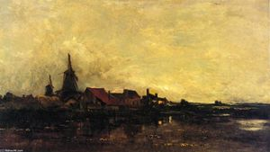 Charles François Daubigny - The River Meuse at Dordrecht