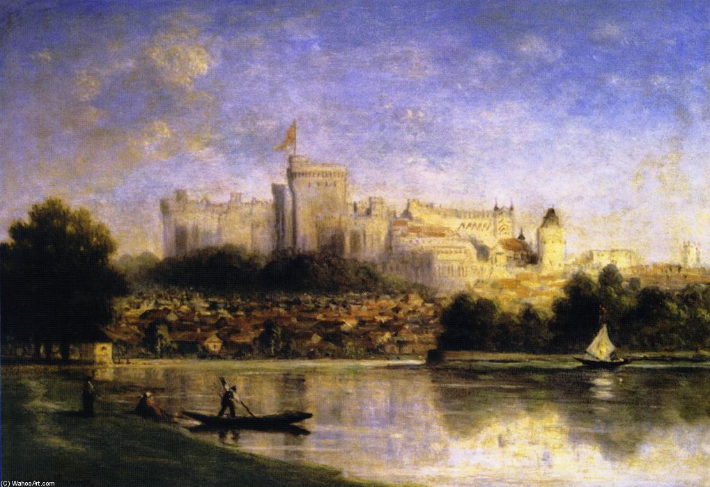 River Scene with Castle by Gilbert Munger (1837-1903, United States) | Museum Quality Reproductions | WahooArt.com