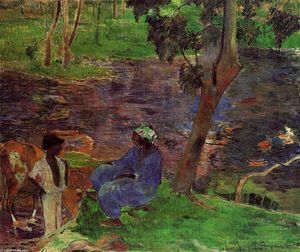 Paul Gauguin - Riverside