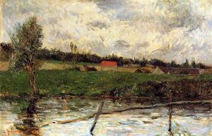 Paul Gauguin - Riverside (also known as Breton Landscape)
