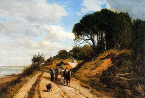 Eugène Louis Boudin - The Road from Trouville to Honfleur