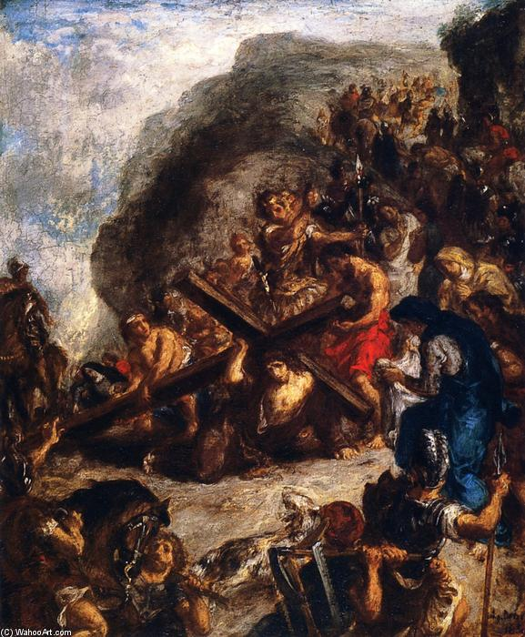 The Road to Calvary, 1847 by Eugène Delacroix (1798-1863, France) | Museum Quality Reproductions | WahooArt.com