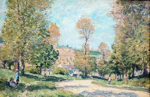 Alfred Sisley - Road to Louveciennes - (Buy fine Art Reproductions)