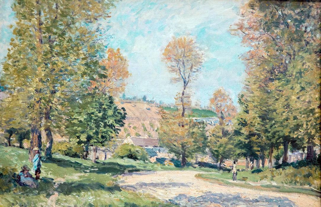 Road to Louveciennes, Oil On Canvas by Alfred Sisley (1839-1899, France)