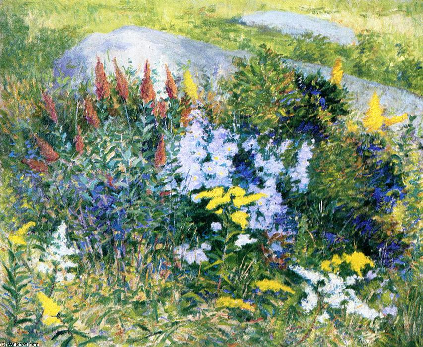 Rock Garden at Giverny, 1887 by John Leslie Breck (1860-1899, United States) | Reproductions John Leslie Breck | WahooArt.com