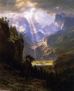 Albert Bierstadt - Rock Mountains Lander-s Peak----