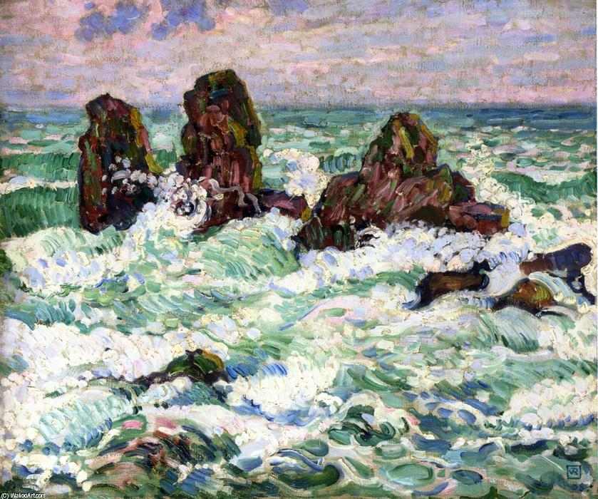 The Rocks, Oil On Canvas by Theo Van Rysselberghe (1862-1926, Belgium)