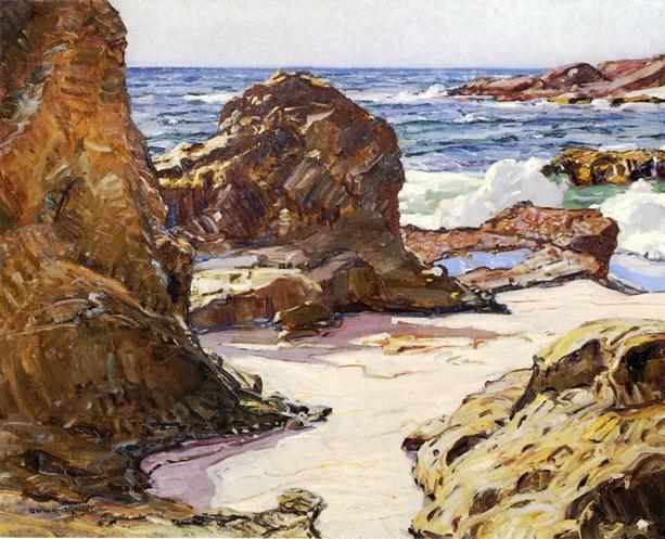 Rocks and Sea by George Gardner Symons (1861-1930, United States) | Art Reproductions George Gardner Symons | WahooArt.com