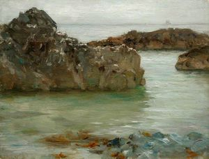 Henry Scott Tuke - Rocks at Newporth