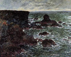 Claude Monet - Rocky Coast and the Lion Rock, Belle-Ile