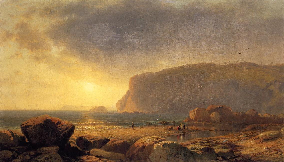 Rocky Coast at Sunset, 1860 by William Hart (1864-1946, United States) | WahooArt.com