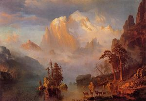 Albert Bierstadt - Rocky Mountains - (Famous paintings)