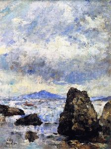 Lesser Ury - Rocky Shore at Capri