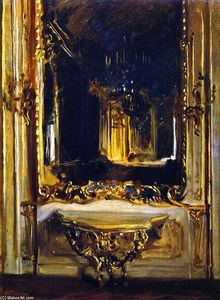 John Singer Sargent - The Rococo Mirror