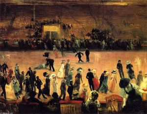 William James Glackens - Roller Skating Rink