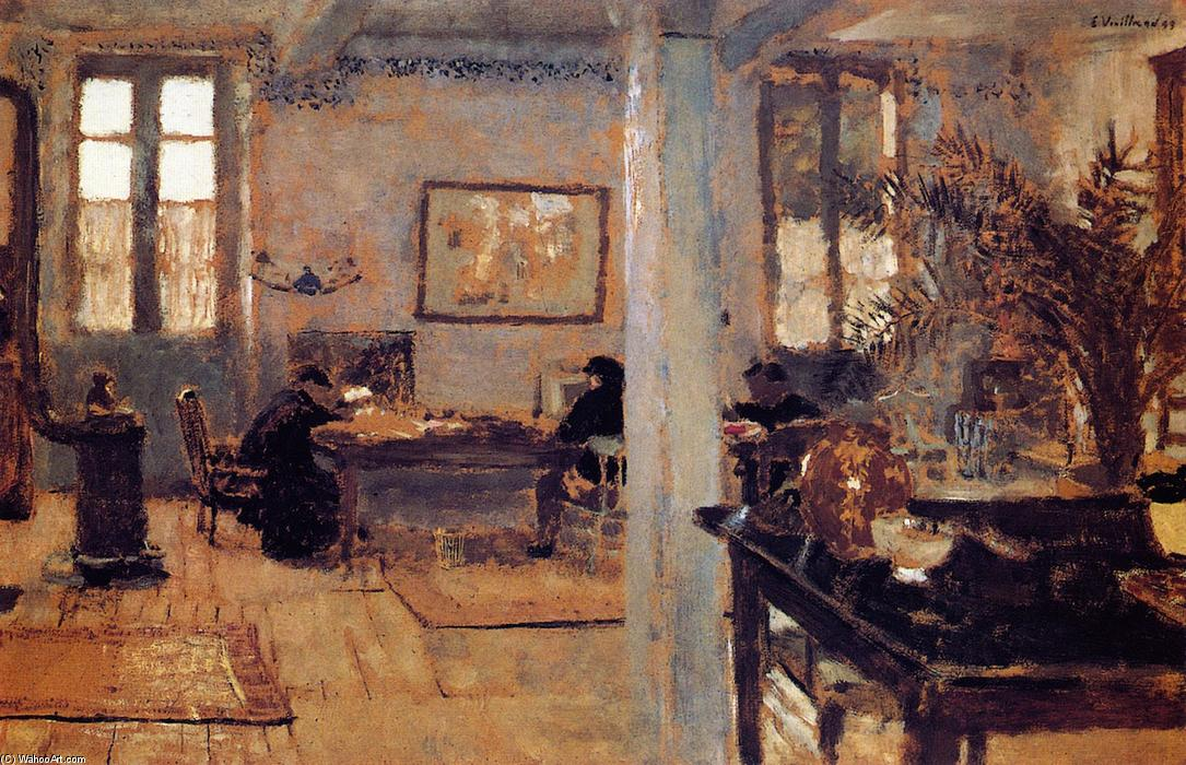 The Room, 1899 by Jean Edouard Vuillard (1868-1940, France) | Museum Art Reproductions Jean Edouard Vuillard | WahooArt.com