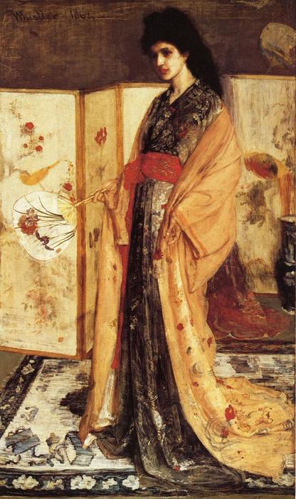Rose and Silver: The Princess from the Land of Porcelain, Oil On Canvas by James Abbott Mcneill Whistler (1834-1903, United States)