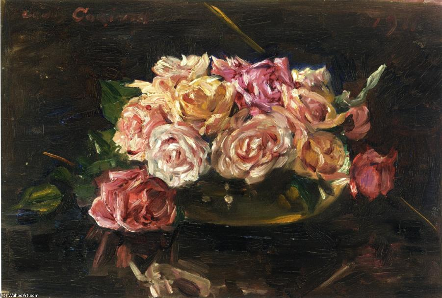 Roses, Oil On Canvas by Lovis Corinth (Franz Heinrich Louis) (1858-1925, Netherlands)