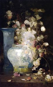 John Ferguson Weir - Roses and Lilacs