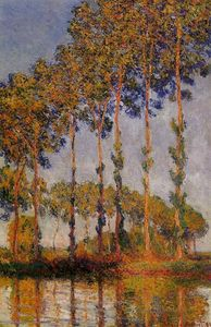 Claude Monet - A Row of Poplars