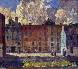 Robert Spencer - A Row of Tenements