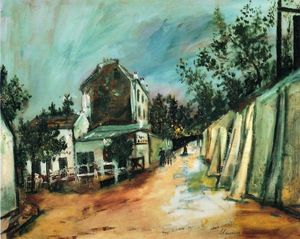 Maurice Utrillo - Rue Saint-Vincent and the Lapin Agile