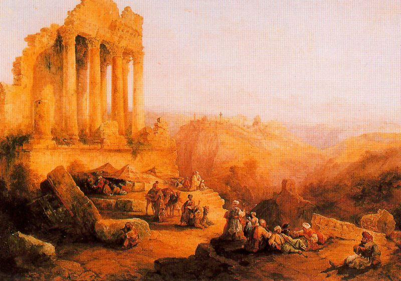 Ruinas en las inmediaciones de Jerusalén by Antonio Muñoz Degrain (1840-1924, Spain) | Art Reproduction | WahooArt.com