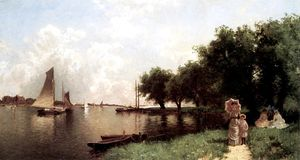 Alfred Thompson Bricher - Sag Harbour, Long Island