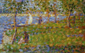 Buy Museum Art Reproductions | Sailboat, 1884 by Georges Pierre Seurat (1859-1891, France) | WahooArt.com