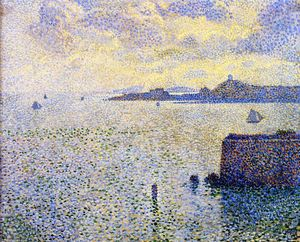 Theo Van Rysselberghe - Sailboats and Estuary