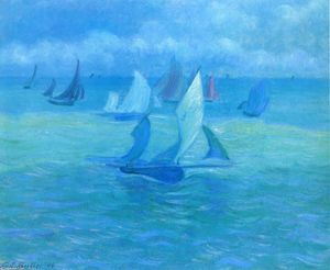 Theodore Earl Butler - Sailboats on the Water
