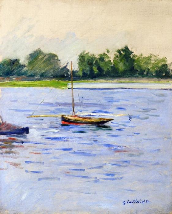 Sailing Boats on the Seine at Argenteuil, Oil On Canvas by Gustave Caillebotte (1848-1894, France)