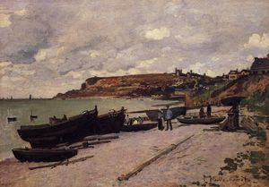 Claude Monet - Sainte-Adresse, Fishing Boats on the Shore