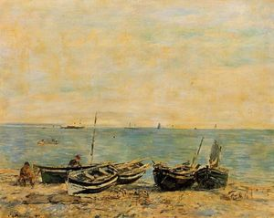 Eugène Louis Boudin - Sainte-Adresse, the Shore