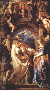 Peter Paul Rubens - Saint Gregory with Saints Domitilla, Maurus, and Papianus