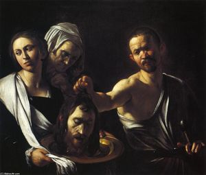 Caravaggio (Michelangelo Merisi) - Salome with the Head of St. John the Baptist - (Famous paintings)